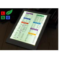 Buy Leather Cover LED Shop Display Single Side Restaurant Menu Holders For Pub Menu at wholesale prices