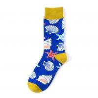 China New marine series shark colorful trendy mens creative cotton tube socks personality tide socks on sale