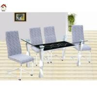 Quality home furniture tempered glass dining table T005 for sale
