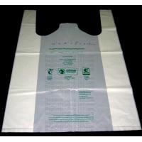 China Starch Biodegradable T Shirt Bags Made Of PLA PBAT, 100% Biodegradable & Compostable,T-Shirt Shopping Bags, DOLLAR STORE on sale