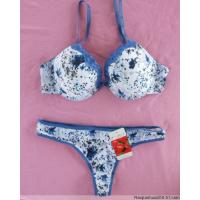 Buy cheap OEM Custom Breathable Flora Matching Bra and Underwear Sets product