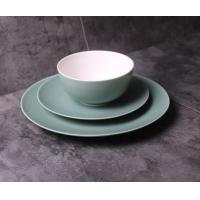 Buy фарфоровый обеденный набор/new bone china Mint green coloured glaze dinner set 12 pcs with gif box/dinner plate/bowl/mug at wholesale prices