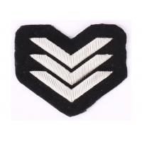 Quality Silver Wire Military Bullion Badges , Embroidered Police Patches For Shoulder for sale