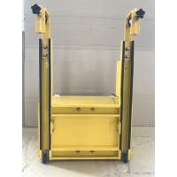 Quality RemovableTraffic Yellow Portable Vehicle Barricades With Wheels for sale