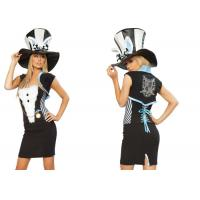 Fashion Fancy Charming Rabbit  Party Adult Costumes Black White  Blue Mixed Color