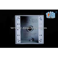 External Aluminum Weatherproof Junction Boxes , Two Gang Electrical Switch Box