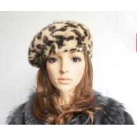 China Leopard Skin Rabbit Fur Hats on sale