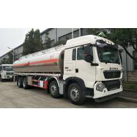 Quality Sinotruk HOWO A7 8x4 Fuel Delivery Tank Truck For Palm Oil / Food Oil Transportation for sale