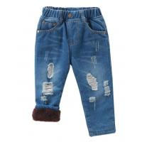 Quality 2018 winter new arrival children thicken fleece jeans boys fashion pants kids jeans for sale