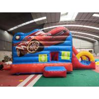 Quality Red Racing Cars Kids Inflatable Bounce House With Slide / Jumping Blow Up Castle for sale