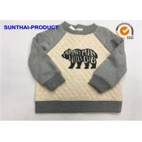 Quality Fashion Baby Boy Quilted Jacket , Screen Print Raglan Sleeve Quilted Fabric Jacket for sale
