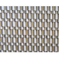 Quality 8126T Decorative elevator cladding mesh, Elevator lift wall brass metal woven curtain screen for sale