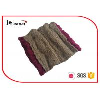 Quality Camel Acrylic Knitted Neck Scarf for sale
