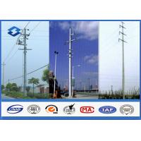 China Hot Dip Galvanized Electrical Power Pole for Transmission & Distribution on sale