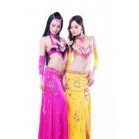 Quality High class 5pc set sexy professional pink belly dance costumes for adult for sale