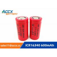 Buy cheap 16340HP 600mAh 16340 3.7V li-ion battery 10-20C high rate power battery for electric toys, eircraft, from wholesalers