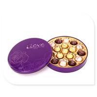 Quality Ferrero Rocher Chocolate Tin Box With Plastic Insert Custom Printed for sale