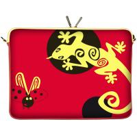 Quality Dual Zip Personalized Neoprene Laptop Sleeve Red for Teenager , Designer OEM for sale