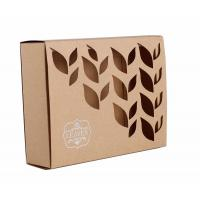 Quality Carved Window Shell Wrapping Paper Box Slide Brown Kraft Paper Box For Cosmetics for sale