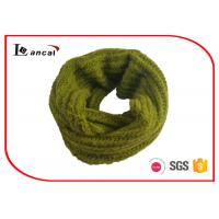 Quality Single Layer Yellow Green Knitted Scarf , Warm Knitted Neck Scarf For Women for sale