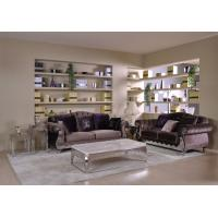 Light Purple Velvet Cover Western Living Room Furniture Sectional ...