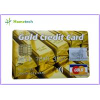 Quality Real Capacity 2gb / 4gb / 8gb  16gb 32gb GOLD Credit Card shape USB Storage Deivce for sale