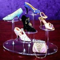 Quality Acrylic Shoes Display Risers, Different Sizes and Colors Available for sale