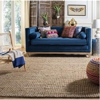 Quality Home Office 6mm 2500gsm Flat Weave Natural Soft Sisal Carpet for sale