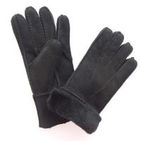 Quality Winter Merino Leather Shearling Sheepskin Gloves Hand Sewing Multi Color for sale