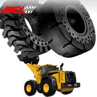 Quality APEX 23.5-25 Solid Tire, Cushion Tyre for Wheel Loader, Integrated Tool Carrier, Elevating Motor Scraper for sale