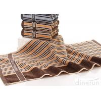 China Portable Cotton Bath Towels Stripe With Embroidery Logo DR-BT-03 on sale