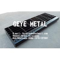 Quality Welded Steel Bar Grating Stair Treads, Non-Slip Metal Grate Stair Treads for sale