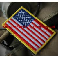 Quality American flag military embroidery badge patches Velcro armband for sale