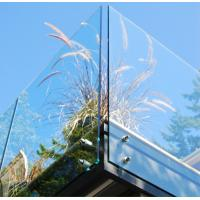 Balustrade  Balcony Tempered Glass Panel Easy Cleaning 12mm Safety