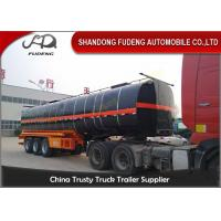 Quality 45000 Liters transport asphalt tanker semi trailer with insulating layer for sale