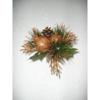 China Brown Artificial Flower Garlands Flowers with Pinecone for Evergreen Home Decorative on sale