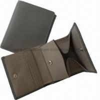 Quality Men's Leather Wallet with Coin Pocket for sale