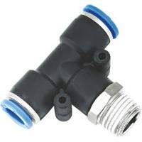 China T Type Pneumatic NPT Threaded Fittings , Pneumatic Push Fit Connectors on sale