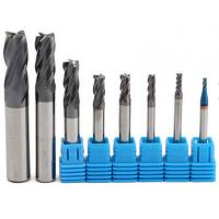 China 2-12 mm Carbide Solid End Mills / 4 Flutes Tungsten Carbide Cutter CNC Tools Set on sale