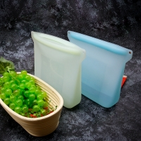 Quality Portable Eco-Friendly Silicone Food Storage Bag for sale