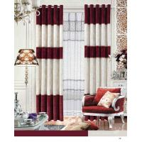 Quality Elegant Blackout Fabric Luxury Ready Made Curtains / Jacquard Window Curtain With Polyester for sale