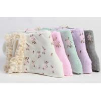 Quality cotton cuff socks with lace for sale