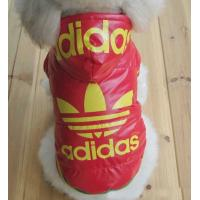 China adidas dog clothes for winter days red and black on sale