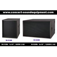 """Quality Disco Sound Equipment / 2x18"""" Direct Reflex 4ohm 1200W Subwoofer For Concert , Nightclub And Living Event for sale"""