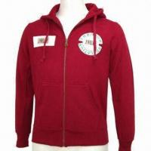 China Men's Cotton Fleece Jacket with Hood on sale
