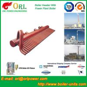 Quality 100 Ton Boiler Header Manifolds Carbon Steel Boiler Unit for Natural Gas Industry for sale