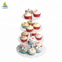 Quality Best Quality Square Dessert Cupcake Tower Modern Acrylic plastic cake stand for sale
