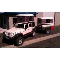 Quality CE Approved Hard Shell Roof Top Tent , Jeep Wrangler Tents For Camping for sale