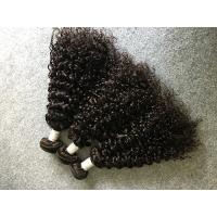 Quality Soft Curly Peruvian Human Hair Weave No Tangle And Shedding For Girls for sale