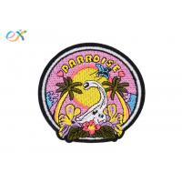 China Stock Design Embroidered Animal Patches , Beautiful Dinosaur Embroidered Patches on sale